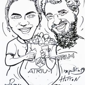 Atrium, caricature