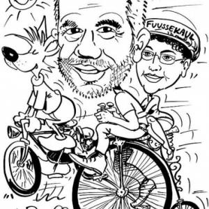 caricature camping  Fussekaul