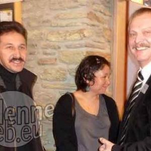 Daniel Tourbach (president CPAS Lierneux) et son epouse, Francis Samray.