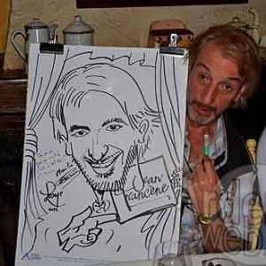 Alain Posture et sa caricature de Jean-Marie Lesage