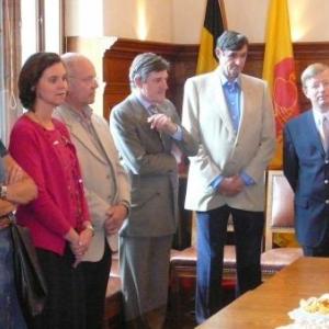 Des Autorites communales, F. Herbrand et les representants du COIB