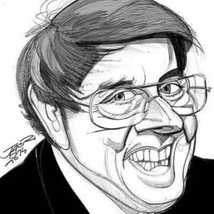 Franquin caricature de Christian Jacot