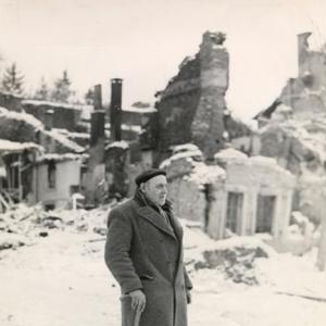 Houffalize 1944 1945 hotel des poste Place du Roi Albert