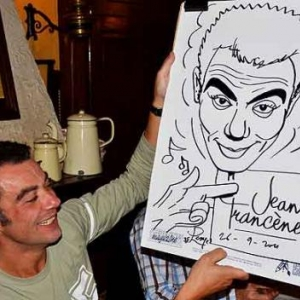 caricature de Richard Ruben par Jean-Marie Lesage- 2164