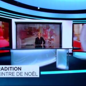Belgique: RTBF du  jeudi 8 decembre 2016, peinture sur vitre pour NOEL