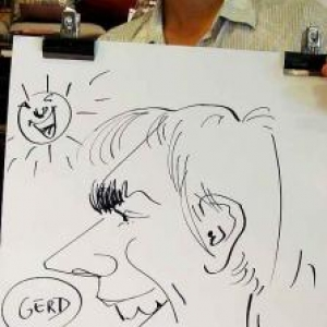 Karikaturen Pot interieur Axel-8307