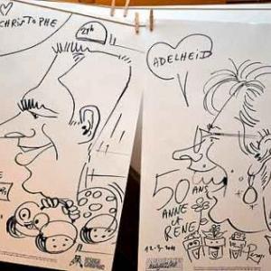 Caricature pour les 50 ans de Anne et Rene-1774