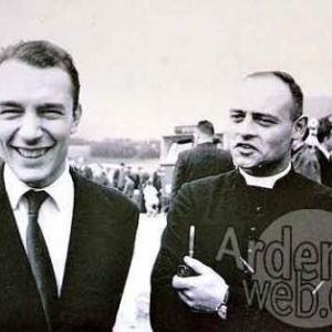 Bernard Magos et Jean Stas (pretre) en 1962