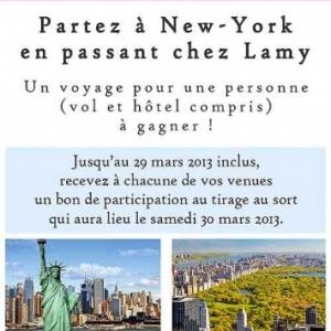 gagner un laisser-Passer pour New-York en passant chez Lamy