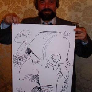 Caricature, chercheur,bruxelles, 30013