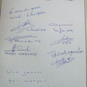 Le Livre d'Or de Malmedy en date du 21 juin 2007