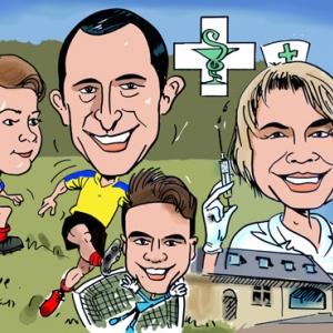caricature en couleur
