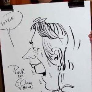 Caricatures pour les 60 ans de Henri ROEMER - photo 8624