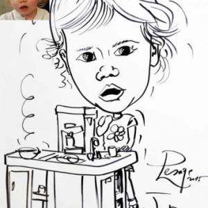 caricature minute enfant en cuisine