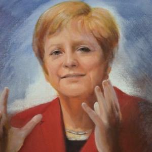 Angela Merkel. Hope. Printings by Marie-Elise.