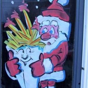 Peinture sur vitrine pour Noel-7473