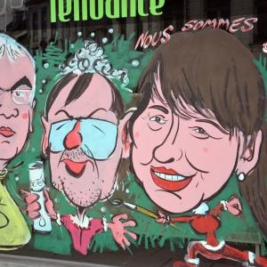 caricatures de Pierre Yves Jeholet, Yves Vanlaethem et de Carole Stabel . Malmedy