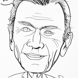 René Gillard, caricature