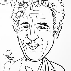 Philippe Cornet, caricature