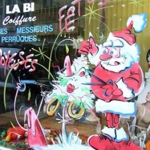 Peinture sur vitrine pour Noel-7345