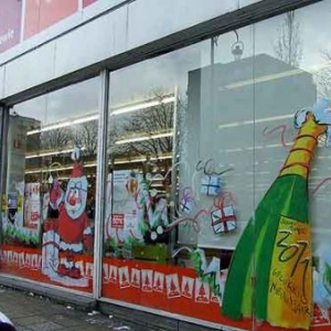Peinture sur vitrine pour Noel-7405