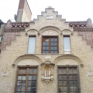 St Omer : facade typique de la region de Flandre