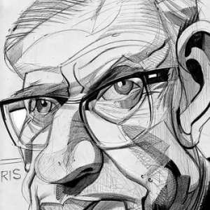 Jean-Paul Sartre caricature de Christian Jacot