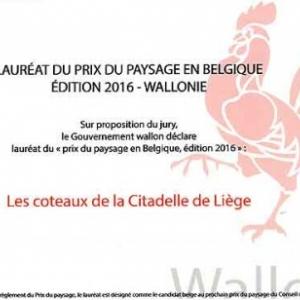 Coteaux de la Citadelle lauréat du Prix du Paysage en Belgique