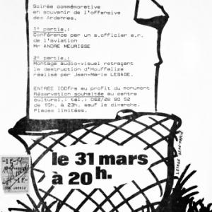 """Affiche du 31 mars 1984 pour """"Houffalize se souvient"""""""