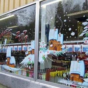 Peinture sur vitrine pour Noel-7378