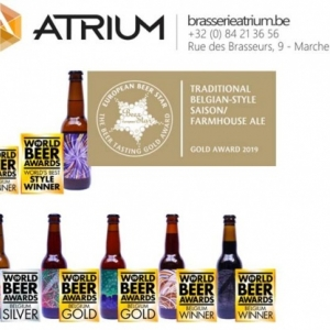 Atrium, medaille ,Or , European Beer Star