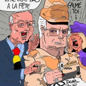 Caricature du Roi par Jacri pour notre magazine