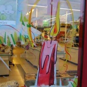 Peinture sur vitrine pour Noel-7313