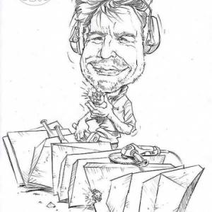 caricature de Sylvain PATTE par Olivier Claudon