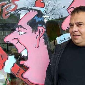 caricature Joyeux NOEL et Bonne annee 2011