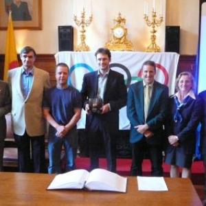 Mrs De Groot, F. Herbrand, Felten (ESC), JP Bastin, A. Blaise (ancien Echevin des Sports, Mme J. Herbrand, M. Zintz