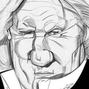 Gerard Depardieu caricature de Christian Jacot