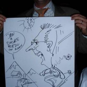 Nivelles : Golf Chateau de la Tournette: soiree des experts CED. Animation caricature