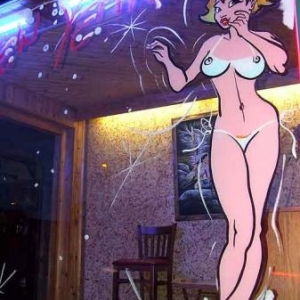 peinture sexi  faite a l'interieur de la vitrine-photo5355