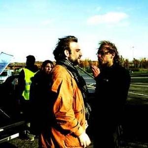 Jean-Jacques et Christophe sur le tournage de - La balancoire