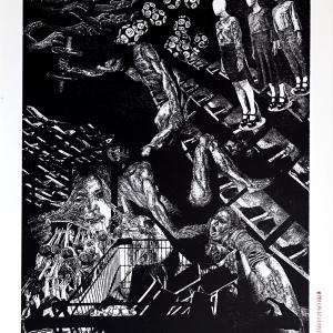 Biennale de l'Image Possible, BIP2020. Les_7_peches_du_capitalisme-Envie_I-xylographie-2020
