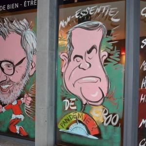 Vitrines peintes pour NOEL par Jean-Marie Lesage