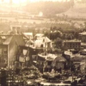 La Chemin Rue apres les bombardements de 1944