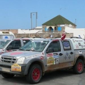 Arrivee du Rallye Aicha des Gazelles 2008 a Essaouira