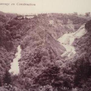 Site de construction du futur barrage