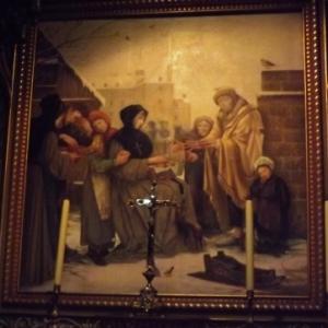 Peintures murales et vitraux relatant l'histoire de la Ville