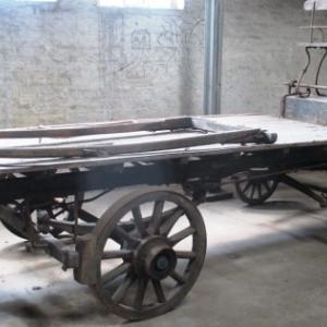 Charrette a balles ( 75 cm x 75 x 120