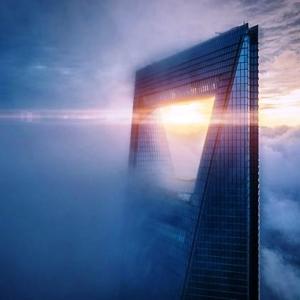10 La tour Shanghai World Financial Center au lever du jour, Chine © Rex Zou - Drone Awards 2020