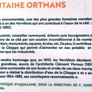 12. La fontaine Ortmans  ( photo F. Detry )