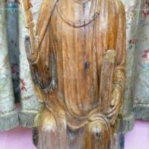 Ste Catherine en chêne ( 13eme siecle )